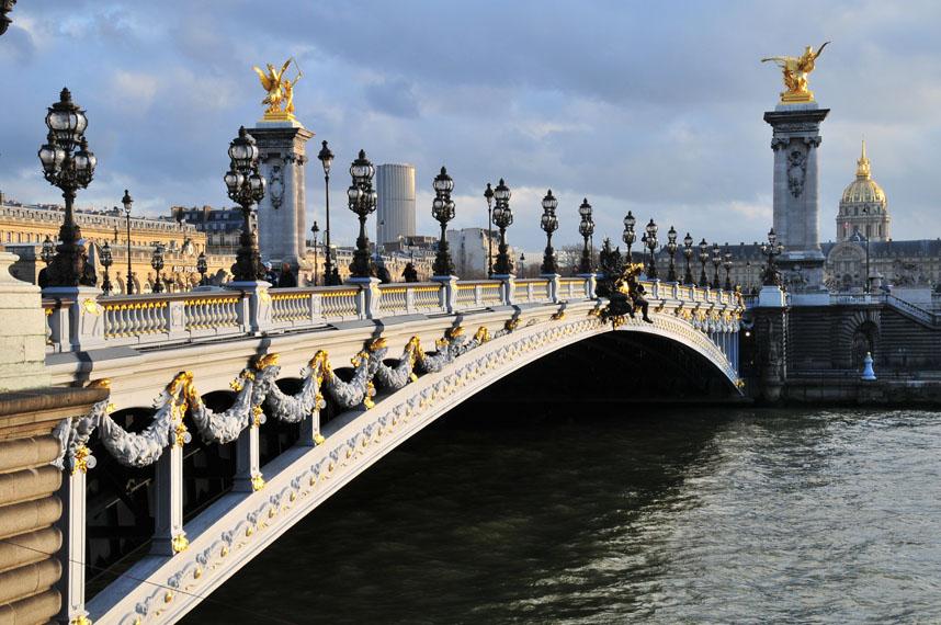 Мост Александра III Париж