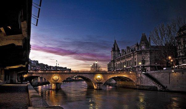 Мост Сен-Мишель Париж